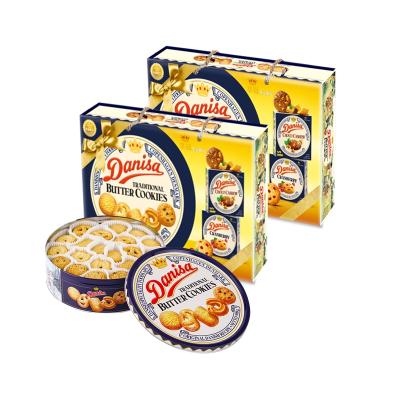 皇冠(Danisa) 丹麦皇冠曲奇908g(赠皇冠曲奇90g*2盒)1088g*2 曲奇饼干 年货礼盒 送礼佳品