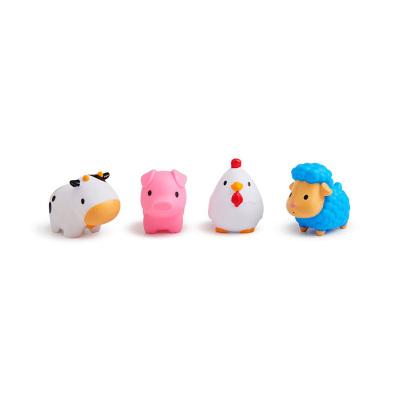 MUNCHKIN满趣健农场小动物洗澡玩具4只装