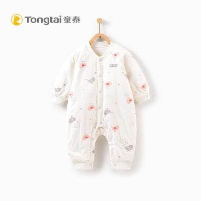 童泰秋冬新生儿衣服婴儿棉衣连体衣0-1岁宝宝纯棉哈衣夹棉爬爬服