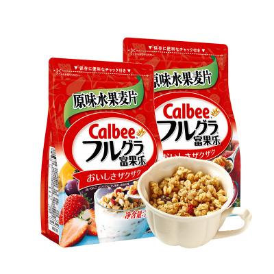 日本進口calbee牌富果樂水果麥片700g*2袋營養麥片早餐代餐即食沖飲