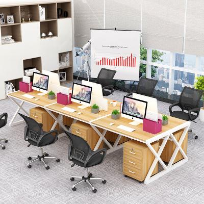宇威辦公桌職員辦公桌員工電腦桌椅組合簡約現代寫字桌辦公家具26四4人屏風工作位 單人位雙人位