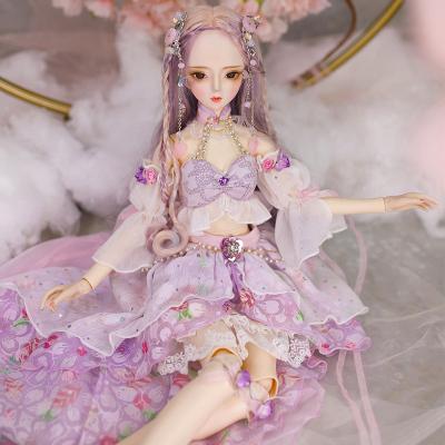 德必勝娃娃DF夢童話60cm關節女孩仿真bjd換裝洋娃娃男孩女孩玩具芭比娃娃3分娃 紫陽DF18201