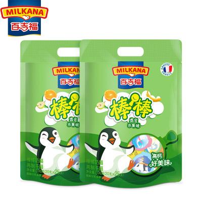 MILKANA百吉福棒棒奶酪兒童健康零食點心高鈣安全奶源混合水果味套餐500g*2兩袋裝