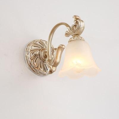 蒹葭歐式復古LED鏡前燈浴室衛生間鏡柜燈梳妝臺鏡畫燈飾具D56 1頭(白熾燈)