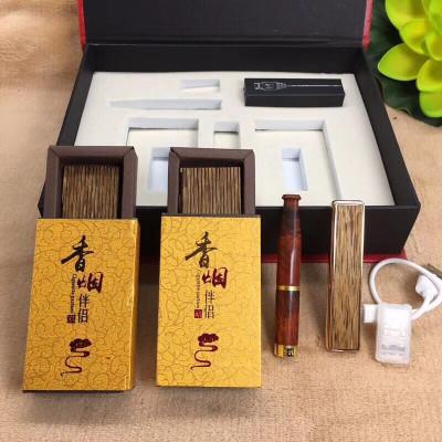 居典JU DIAN 越南芽莊沉香 片煙插煙片 天然禮盒裝沉香木煙條 插煙佛具/宗教 擺件 木飾