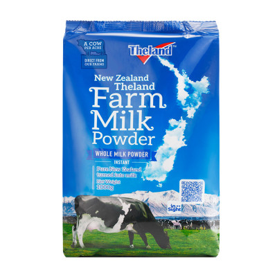 Theland纽仕兰 牧场调制乳粉(全脂)1kg袋装 新西兰进口成人奶粉