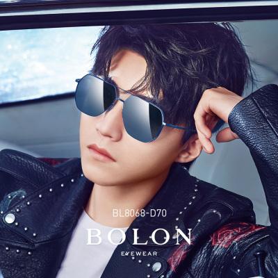 BOLON暴龙2019新款多边形太阳镜王俊凯同款男士蛤蟆镜开车墨镜BL8068