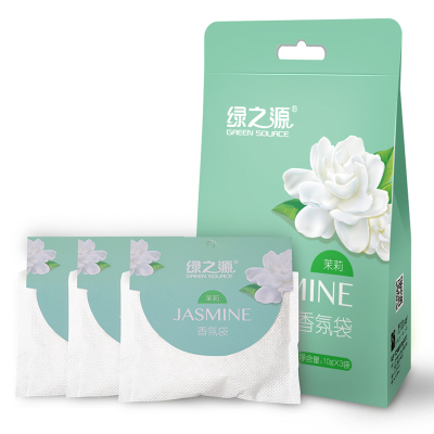 綠之源 茉莉香氛袋 臥室新車衣柜芳香劑室內精油香袋除味香包清新劑(10g*3袋)Z-0172