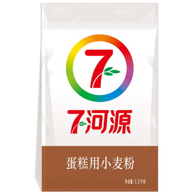 七河源 蛋糕用小麥粉1.5kg 低筋面粉 烘焙粉