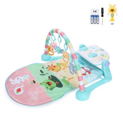貝恩施嬰兒腳踏琴鋼琴健身架器新生兒寶寶音樂兒童玩具0-1歲3個月 pastoerl動物園【套餐三】