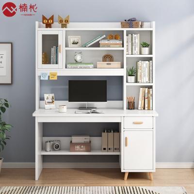 楠杺 書桌電腦桌小戶型簡約電腦臺式桌辦公桌書架桌椅組合臥室寫字桌學生家用