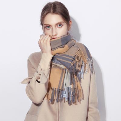 上海故事围巾女冬季办公室空调房夏季仿斗篷羊绒披肩两用时尚洋气披风薄款