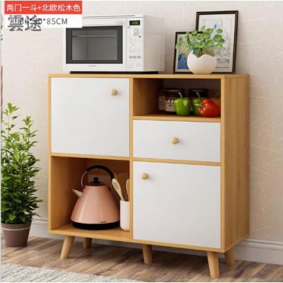 高电视柜1米高80cm超薄高款小户型窄储物 加高电视柜简易出租房定制 高85CM两门一斗北欧松木 组装