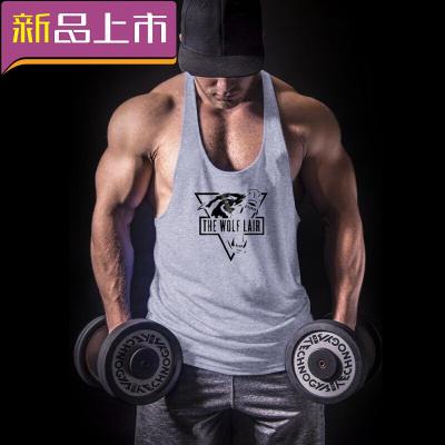 健身背心寬松健美運動吊帶工字訓練簡約背心T恤吸汗肌肉 灰 XXL