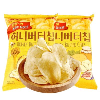 韓國進口卡樂比海太蜂蜜黃油薯片60g袋土豆片網紅休閑膨化零食