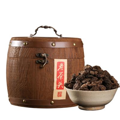 希必奇 05年冰島古樹普洱茶熟茶老茶頭糯香茶葉木桶裝 500克/桶