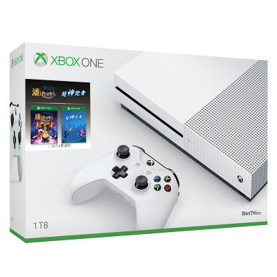 微軟(Microsoft) Xbox One S 1TB 新春雙游戲套裝 (超神跑者+潘卡普)