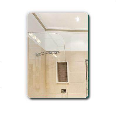 杞沐浴室鏡無框衛浴鏡壁掛掛墻式衛生間廁所洗漱臺鏡子貼墻化妝梳妝鏡