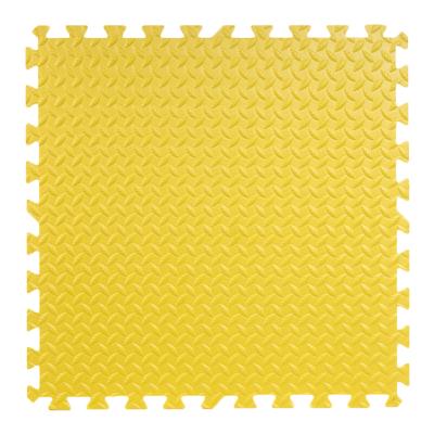 明德泡沫地墊拼圖爬行墊兒童臥室樹葉紋拼接防滑墊大號60*60加厚(黃色1片)1.2cm