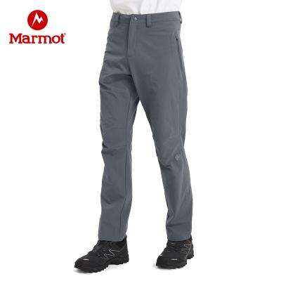 Marmot/土撥鼠秋冬戶外男輕量防潑水彈力透氣M3保暖軟殼褲