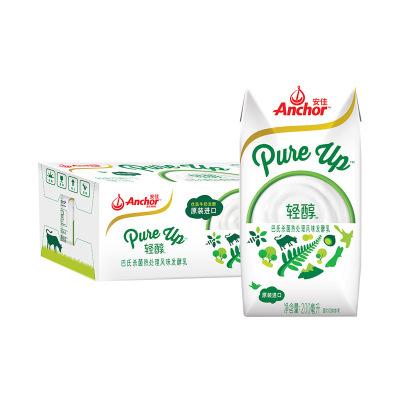 安佳(Anchor)輕醇風味發酵乳酸牛奶酸奶200ml*12盒 新西蘭進口 常溫酸奶酸牛奶