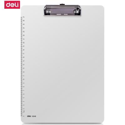 得力(deli)9248塑料夾A4書寫文件夾板墊板PP板夾閱讀架菜單板夾堅固耐用5個裝