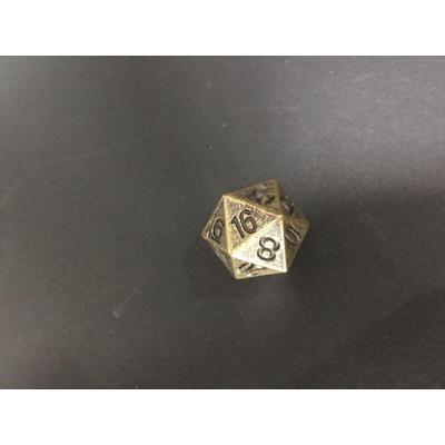 24面骰子多面流浪地球龍跑團金屬古銅20面數字骰子篩子色子