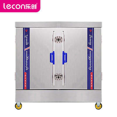 樂創(lecon)蒸飯柜 LC-2K004 商用蒸飯柜 標準款24盤蒸包爐蒸飯柜 380V大型蒸飯車蒸飯機雙室電蒸柜