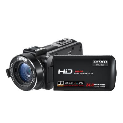 欧达(ORDRO) Z20 数码摄像机支持wifi 高清广角专业家用商务DV 800万1080P dv【标配无内存卡】