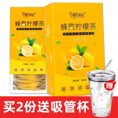 【買2送吸管杯】蒲草茶坊凍干蜂蜜檸檬片花草茶100g/盒泡茶泡水喝