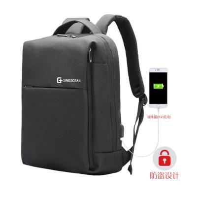 SWISSGEAR双肩包瑞士军刀15.6英寸USB充电双肩背式i电脑包 运动休闲包 男女通用旅行包