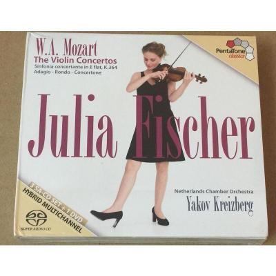 PTC5186453 莫扎特 小提琴协奏曲 朱莉娅费舍尔3SACD+1DVD 预订