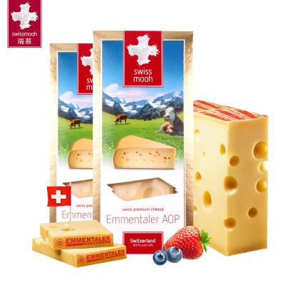 新貨預定 瑞慕瑞士原裝進口Emmental AOP埃曼塔大孔奶酪原制無添加芝士片即食干酪塊*2