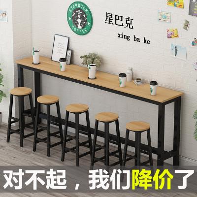尋木匠靠墻吧臺桌家用小吧臺陽臺餐桌高腳桌椅組合酒吧桌細長條桌窄桌子