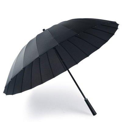 意維斯Itweiss 男士24骨防風商務大雨傘 長柄傘荷葉拒水傘布 加強中骨 抗風暴長柄超大號雨傘男士商務傘