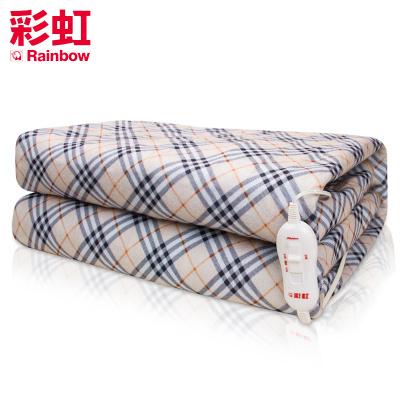 彩虹(RAINBOW)电热毯双人三人电褥子(1.8*1.7米) 安全单控排潮除湿 花色随机
