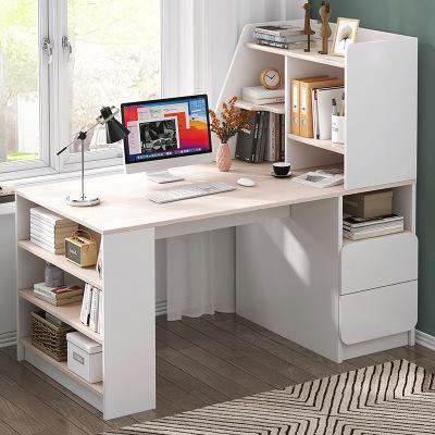 沁峰 電腦桌臺式家用書桌書架一體桌簡約經濟型辦公桌臥室寫字桌