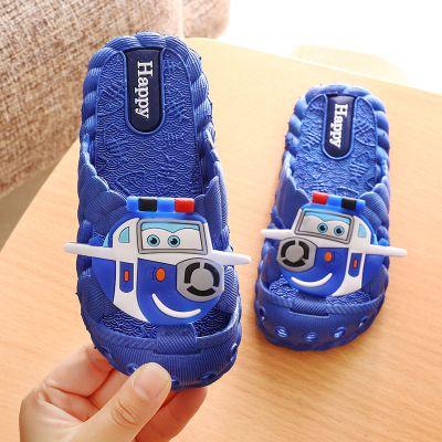 黛鬟兒童拖鞋室內夏季居家卡通飛俠男女童防滑軟底包頭卡通涼拖鞋可愛