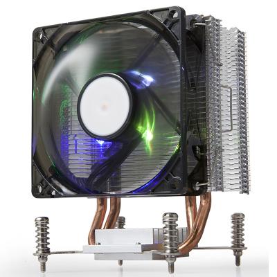 金河田北極玄冰K160臺式機電腦風冷CPU散熱器風扇黑色款(雙熱管/Intel平臺/LED炫光風扇)