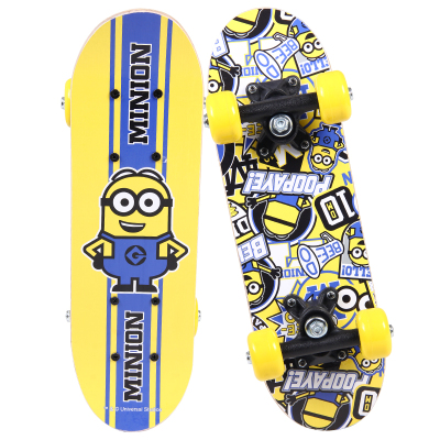 神偷奶爸小黃人(Minions)2-6歲兒童滑板迷你雙翹板初學者入門四輪小滑板木板
