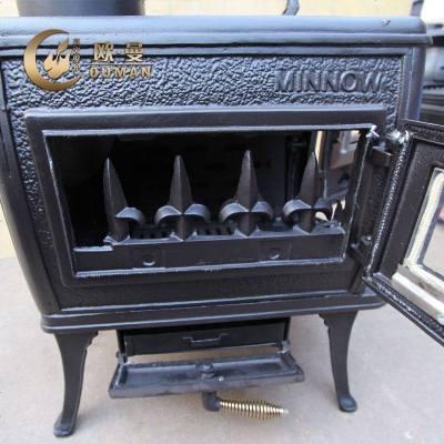 年末促销 实木取暖真火壁炉燃木壁炉铸铁壁炉独立式壁炉501