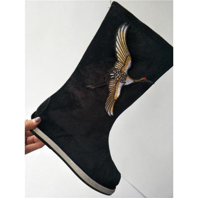 古裝漢服布靴子男女古代鞋子大臣書生cos中式長筒戲曲古裝男漢靴