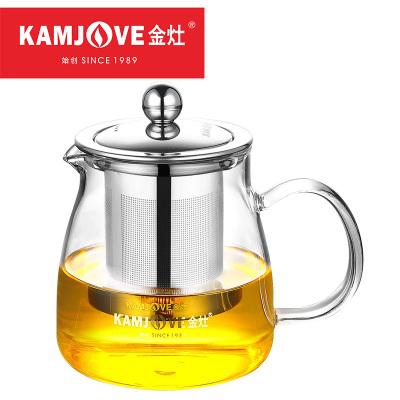 KAMJOVE/金灶 A-02 飘逸杯 茶道杯茶杯 耐热玻璃泡茶壶 冲茶器 花茶壶 玻璃水壶 功夫玻璃茶具 500ML
