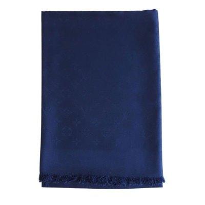 【正品二手99新】路易威登(LV)女士藍色老花絲巾披肩 M75511 奢侈品