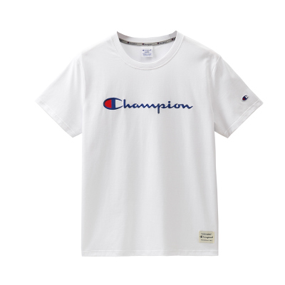 Champion冠軍明星同款草寫LOGO 潮牌男女短袖T恤 經典刺繡時尚休閑圓領T恤G1701