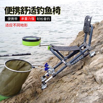 新款钓鱼椅全地形折叠钓椅便携座椅多功能台钓椅子轻便凳渔具