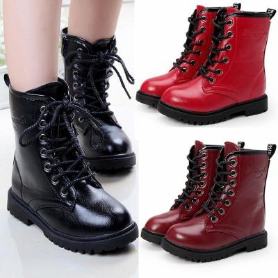 女童靴子春秋季男童马丁靴单鞋儿童表演儿童学生童鞋小孩鞋子靴子 TCVV