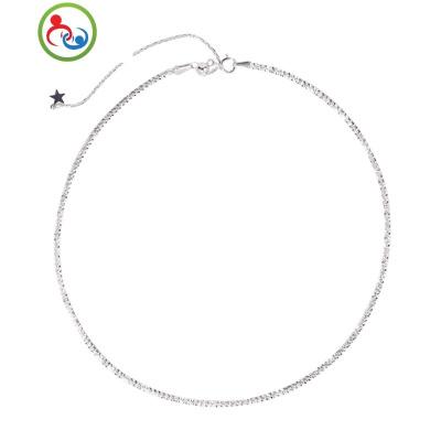 s925銀滿天星抽拉腳鏈簡約個性設計感小眾設計韓版女款時尚百搭 JING PING