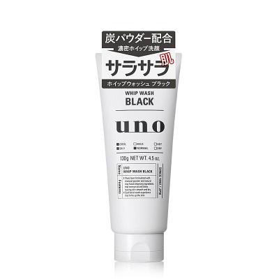 Shiseido资生堂 UNO吾诺男士深层清洁洗面奶 洁面膏 130G(黑)油性肤质