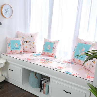 BONJEAN漂亮鮮花印花飄窗墊窗臺墊定做簡約現代沙發墊田園臥室榻榻米陽臺